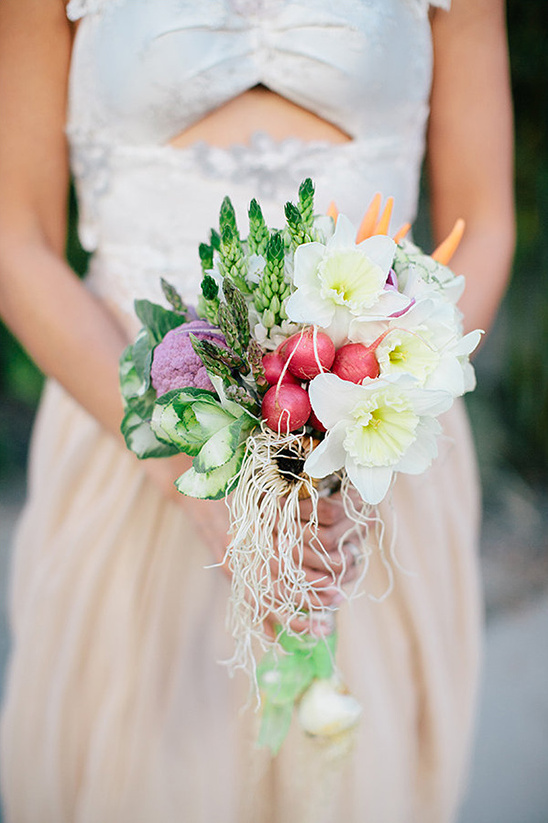 fresh produce and blooms bouquet