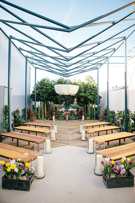 modern electic open air ceremony space