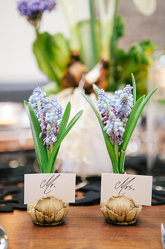 bare bulb bluebell place card holders