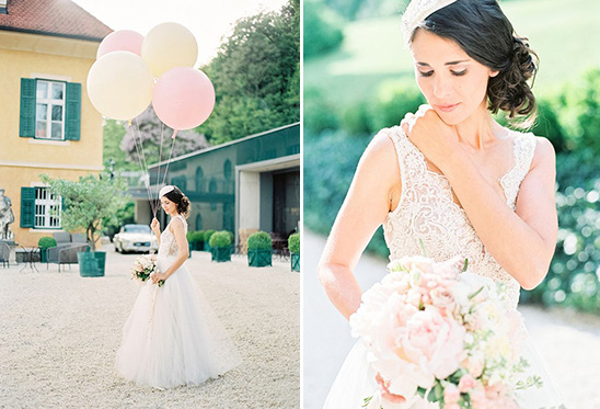 whimsical and elgeant bridal look