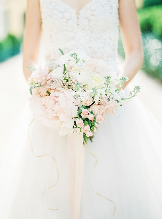 soft pastel bridal bouquet