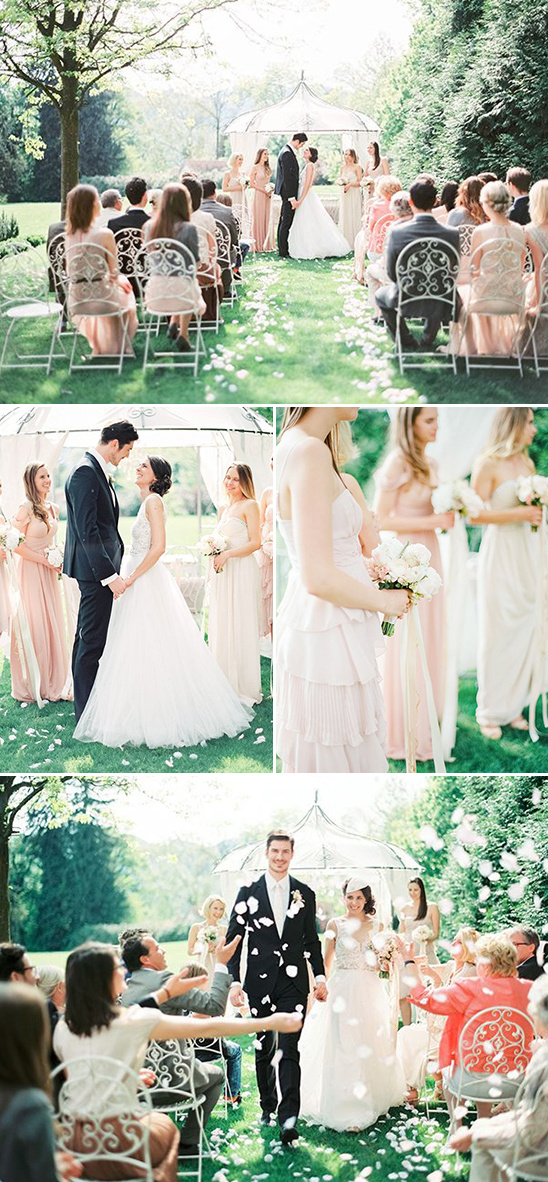 pastel wedding ceremony