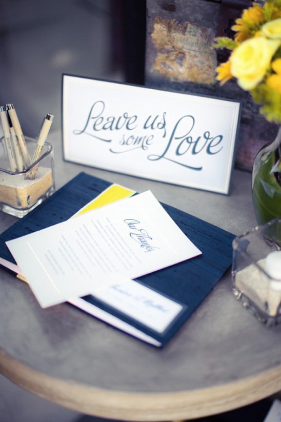 leave us some love guestbook