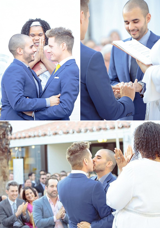 kissing the groom