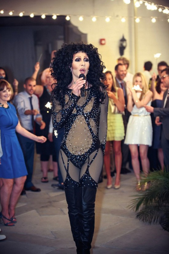 cher singing at a wedding
