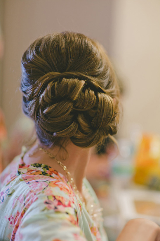 wedding hair knotted bun idea