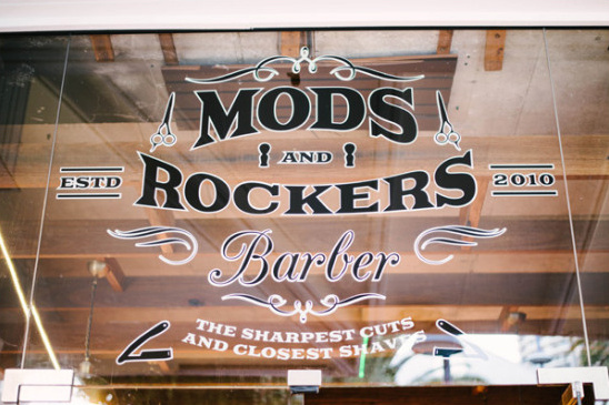 Mod and Rockers barber