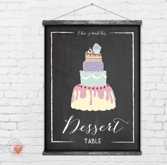 Print at Home- Custom Chalkboard Signs