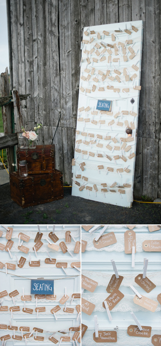 reuse an old door for your escort card station
