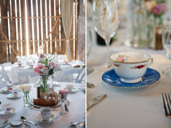 delicate china teacups at each place setting
