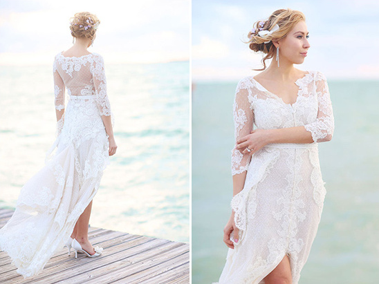 gorgeous gown on the docks