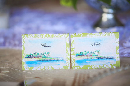 bride and groom placecards