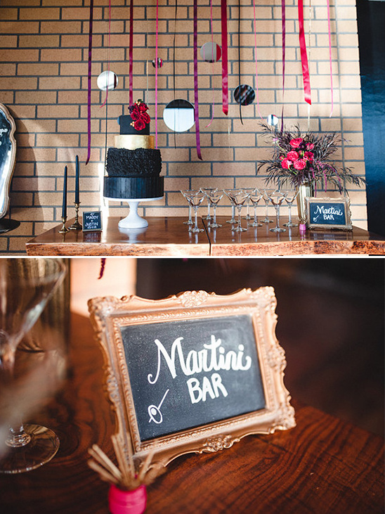 cake table and martini bar