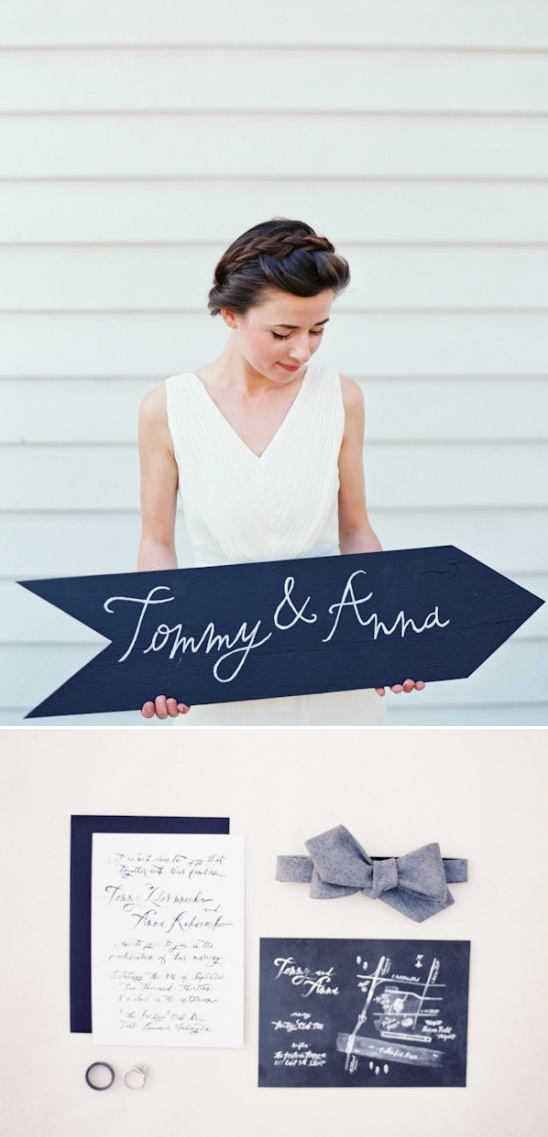 chalkboard and calligraphy themed invites