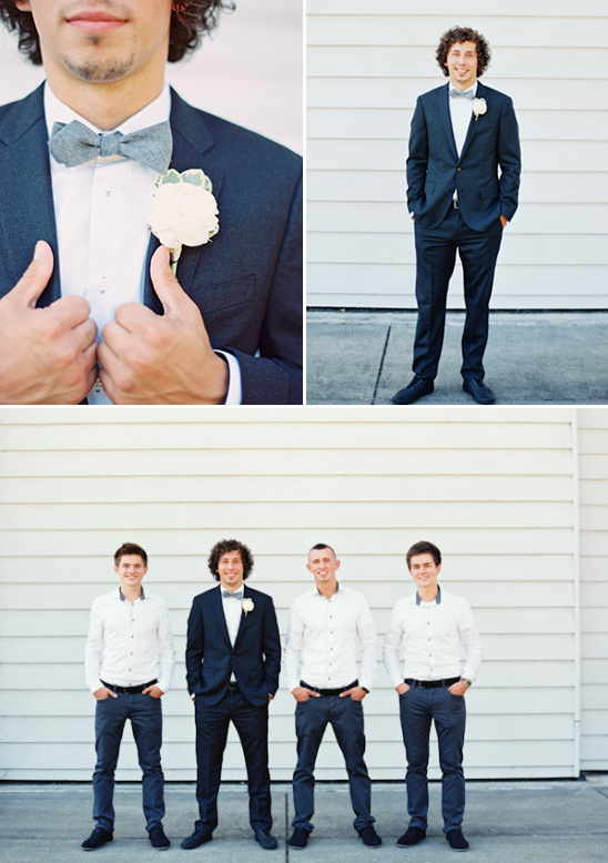grey black and white groomsmen