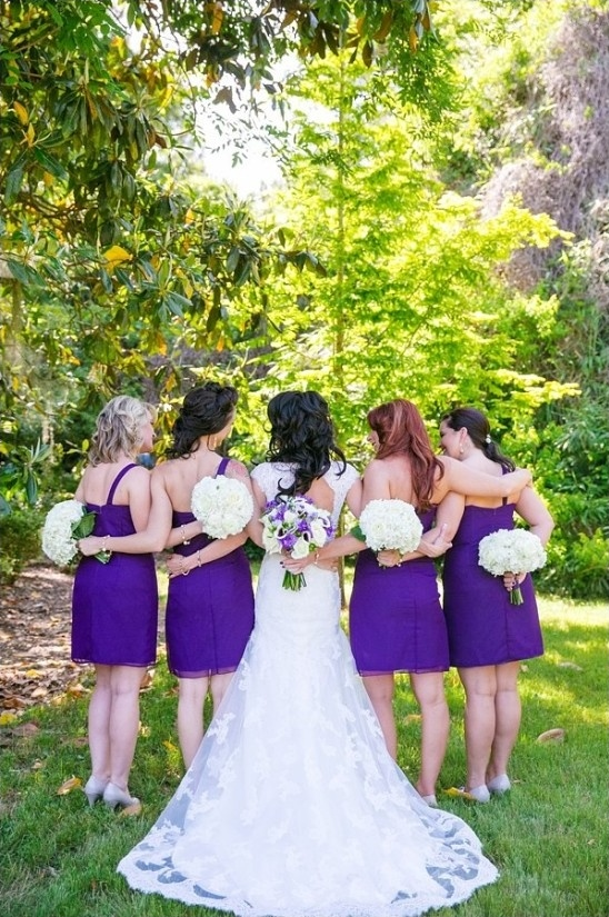 royal purple wedding party