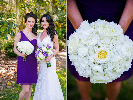 all white bridesmaid bouquet