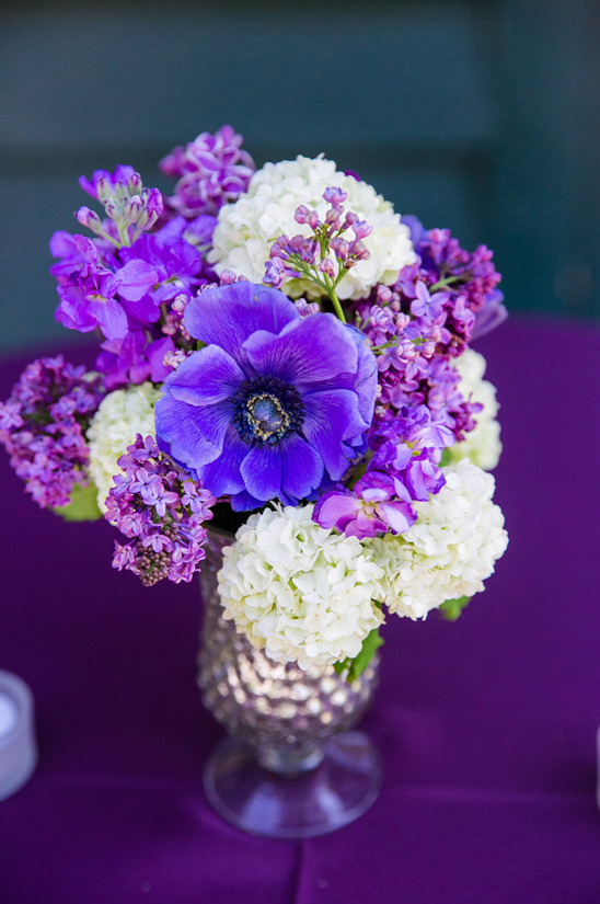 royal purple floral arrangement