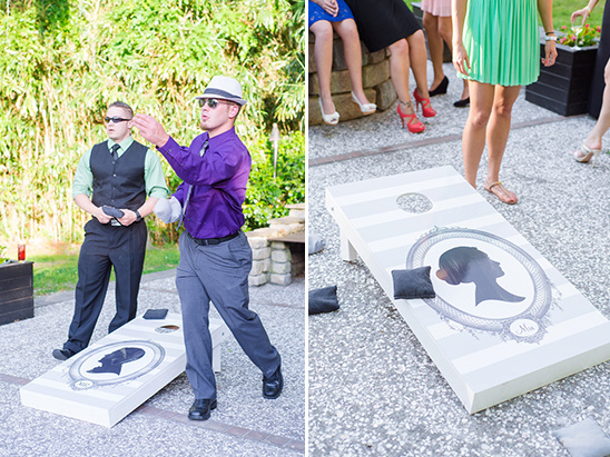 mr and mrs corn hole yard game