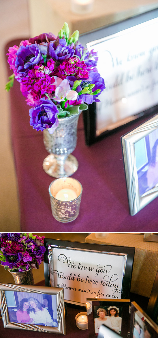 reception memorial table
