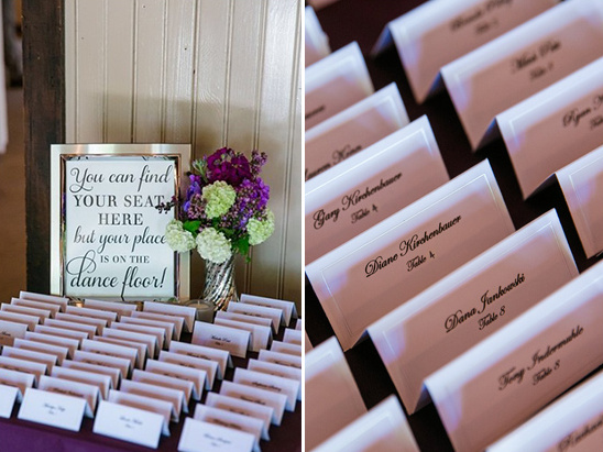 cute escort card sign