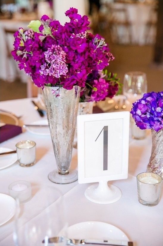 white frame stand table number