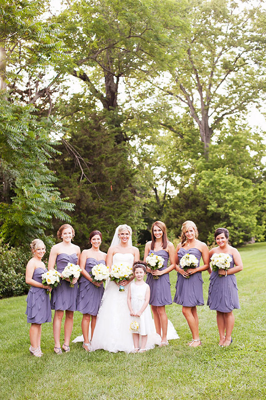 knee length lavender bridesmaids dresses