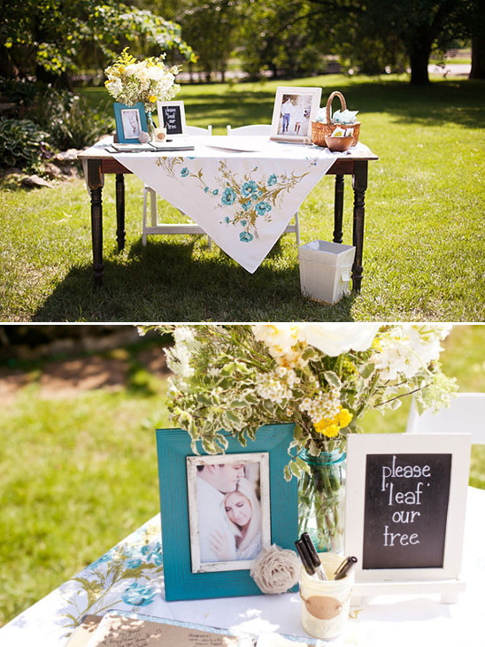 please leaf our tree guestbook table