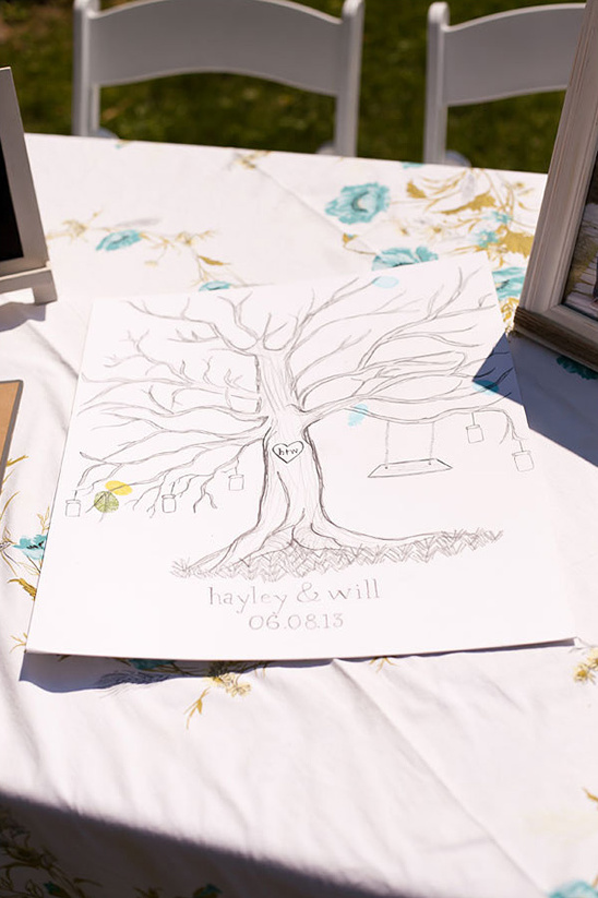 wedding tree fingerprint guestbook idea