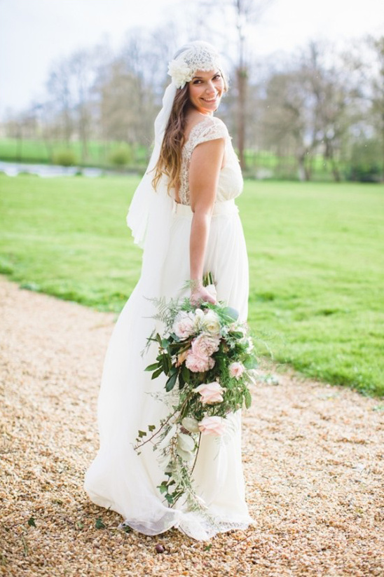 bohemian chic wedding gown