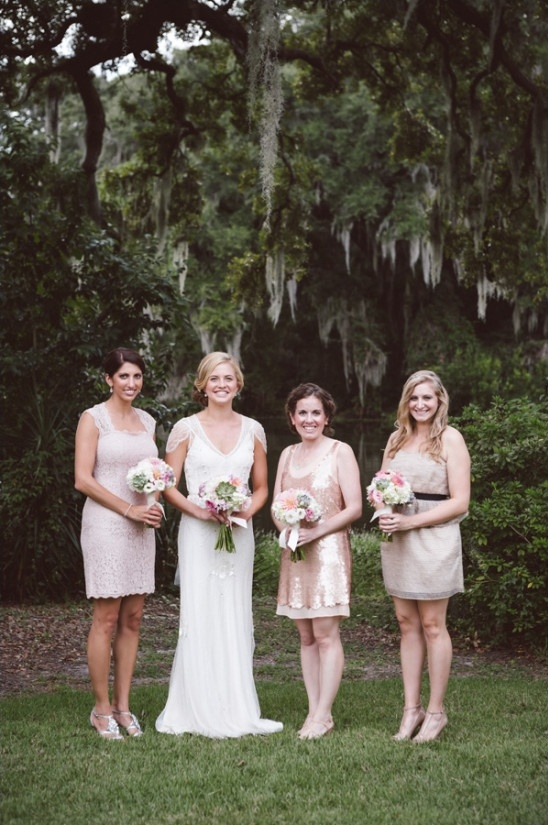 champagne colored bridesmaid dresses