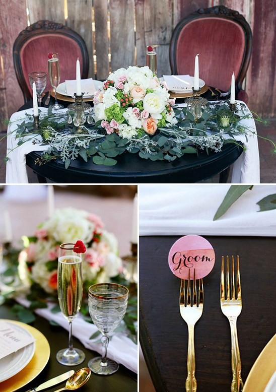 sweet romantic sweetheart table