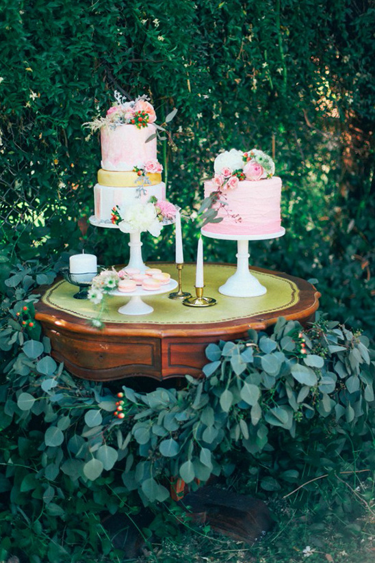water color cake table