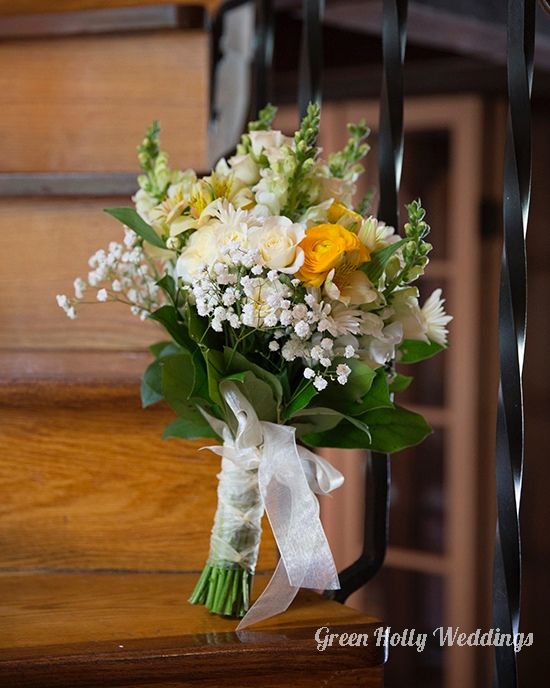 Vintage Yellow Bridal Bouquet