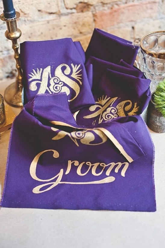 custom wedding bibs