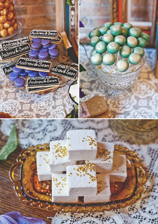 colorful wedding treats