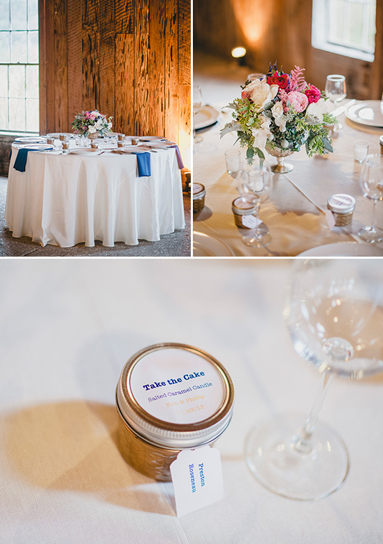 cake scented candle wedding favor