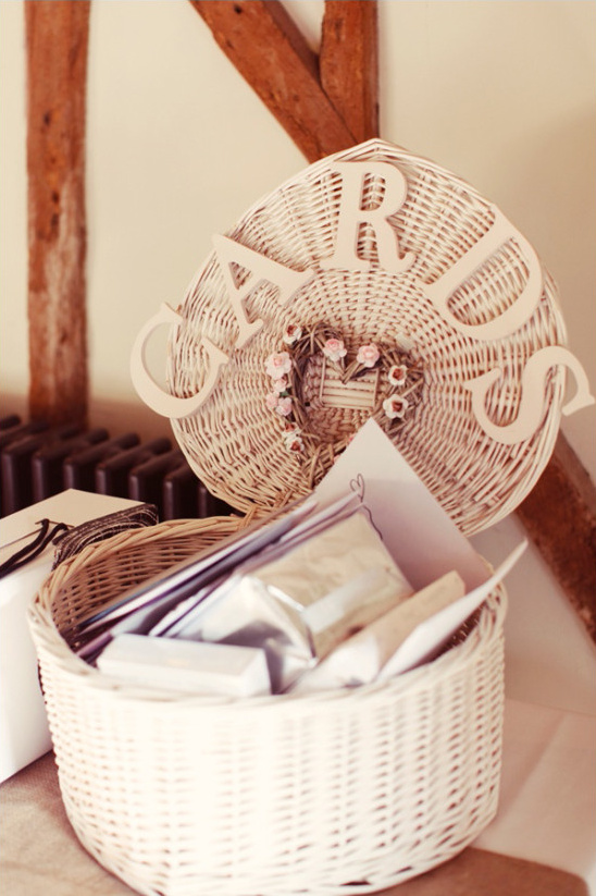 heart shaped cards basket