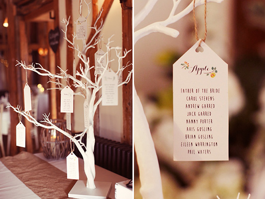 fruit tree escort cards display