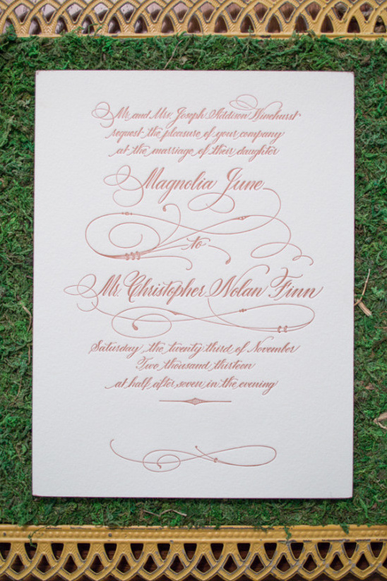 soft pink and cream stationery