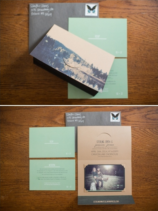 wedding invites designed by the bride