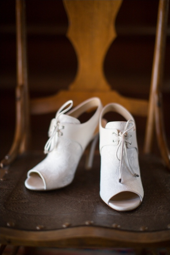 peep toe bootie wedding shoes