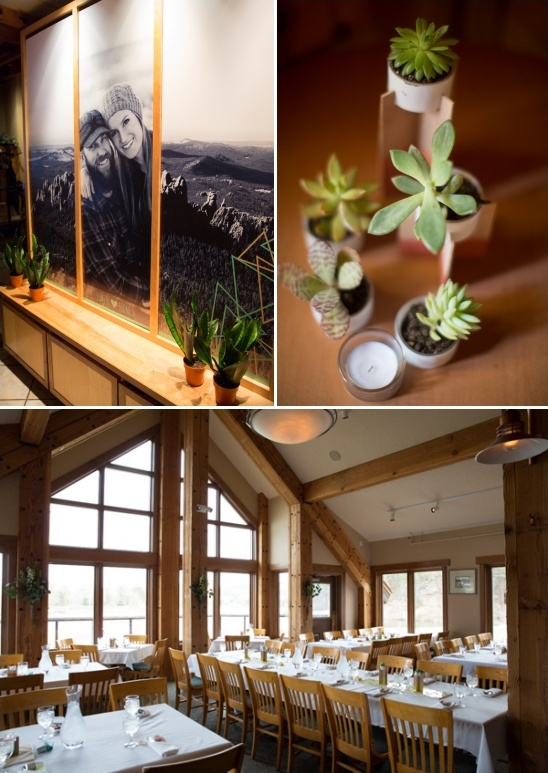 rustic natural wedding reception