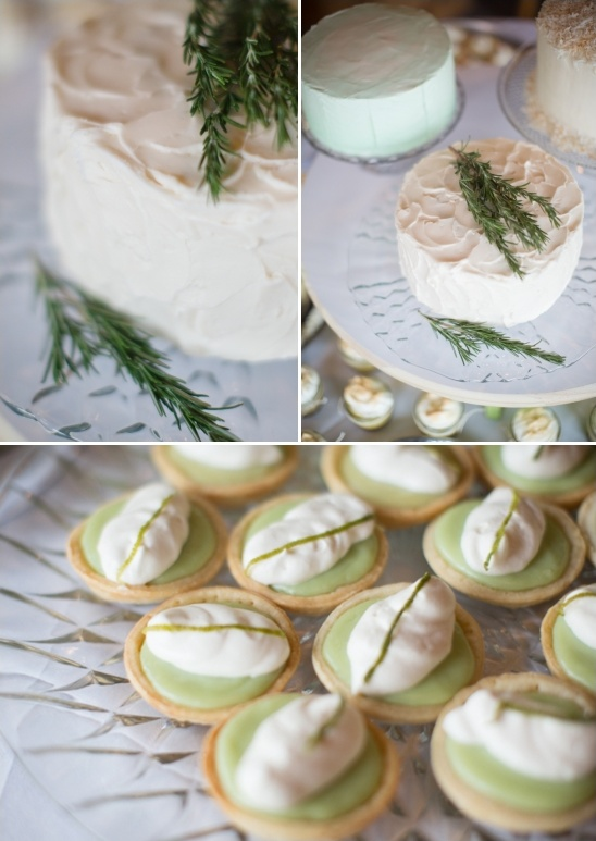 keylime tarts and rosemary topped cake