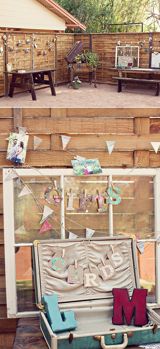 photo buntings and cards suitcase
