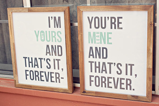 im yours and you're mine forever