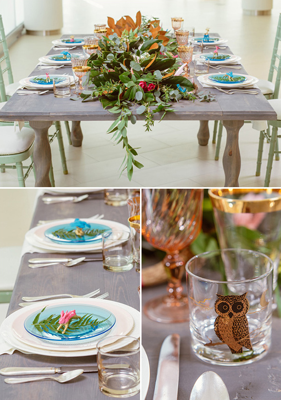 springtime inspired reception tablescape