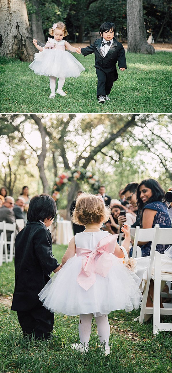 ridiculously cute flower girl and ring bearer