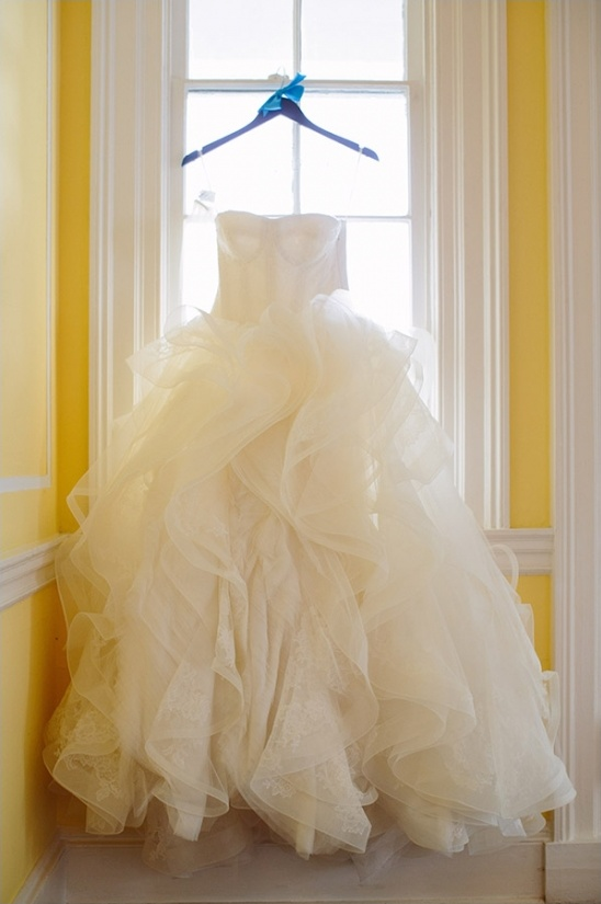 Vera Wang ruffle wedding dress