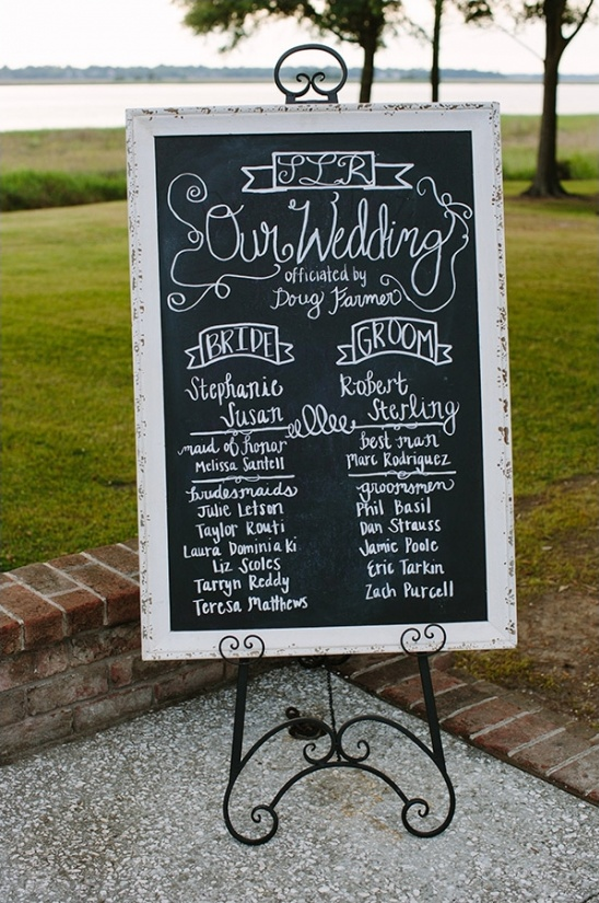 our wedding chalkboard wedding sign